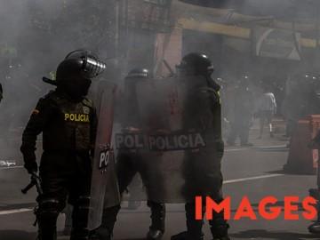 Protest against bullfights in Bogota