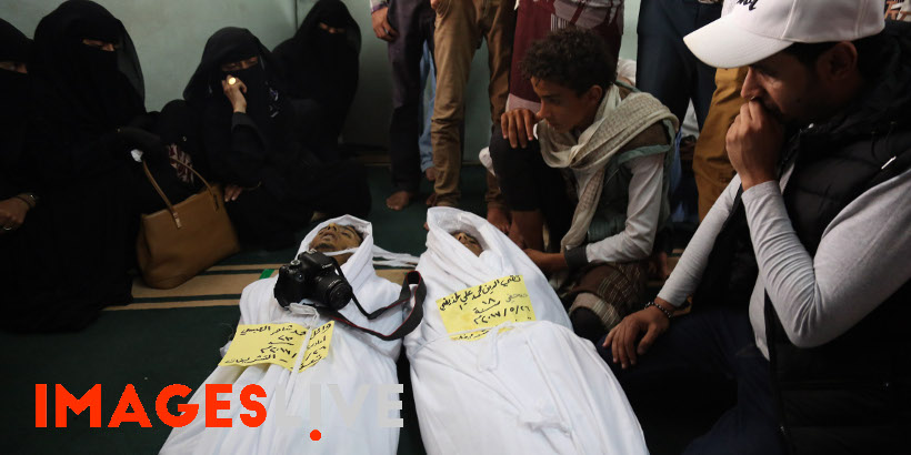 Two photojournalists have been killed while covering the fighting between the pro-government army and the Houthis in the southwest Yemeni city of Taiz. Taqi al-Din al-Hudhaifi and Wa'el al-Absi were killed by Houthis' bombardments while  covering the battle on the eastern front of Taiz. Two other photojournalists, Salah al-Din al-Wahbani and Walid al-Qudsi, were seriously injured during the fighting and Mr al-Qudsi had to have his foot amputated. The body of the deceased photographers were taken from the hospital  to the cemetery in a funeral procession during which other journalists mourned the tragic death of their two colleagues